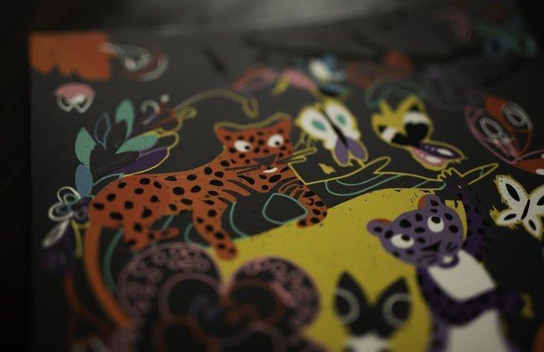 Zestaw kreatywny Do zdrapywania Zwierzęta świata 5+, Janod