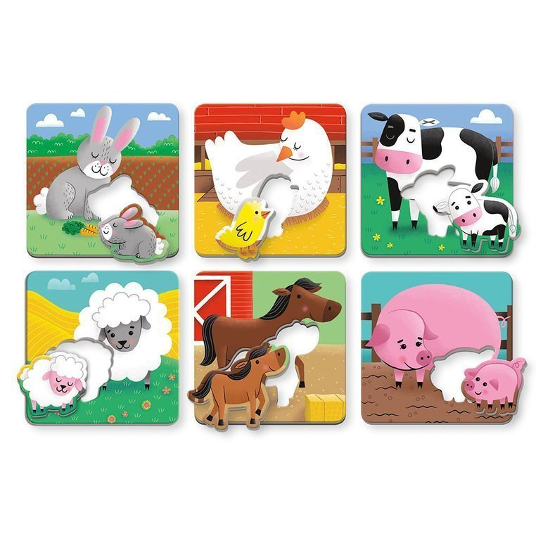 Mudpuppy Pierwsze puzzle I Love You Rodzice i dzieci Farma 1-3 lata Uszkodzone opakowanie