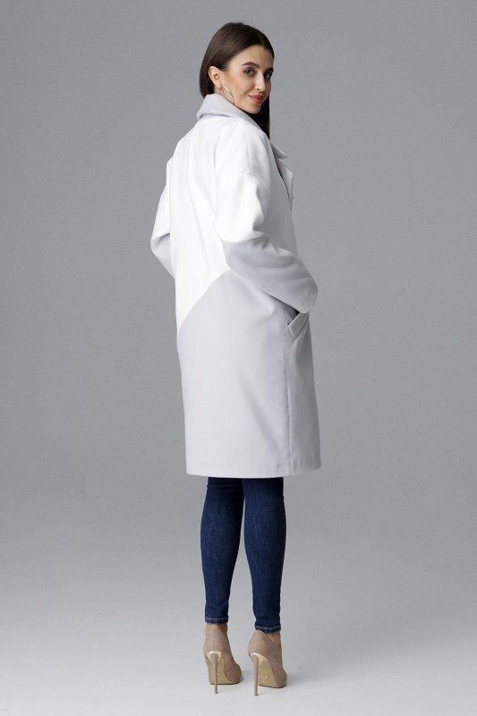 Płaszcz M626 Szary-Biały
