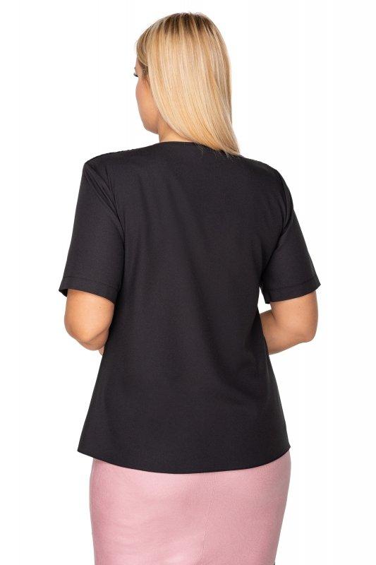 elegancka bluzka z gipiurową wstawką