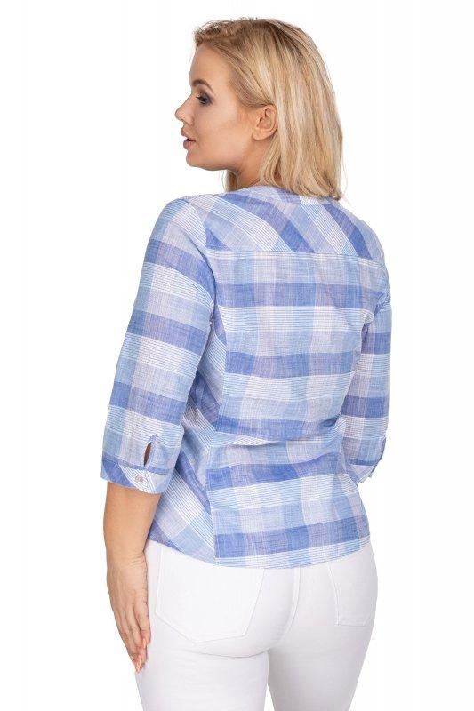bluzka o koszulowym kroju w kratkę