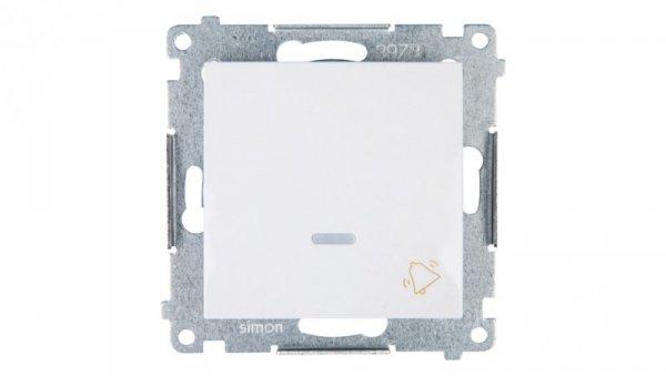 Simon 54 Przycisk /dzwonek/ z podświetleniem biały DD1L.01/11