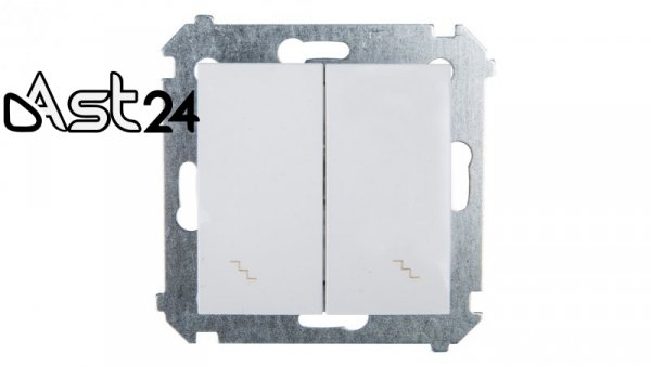 Simon 54 Łącznik schodowy podwójny biały DW6/2.01/11