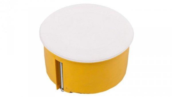 Puszka podtynkowa 70mm regips żółta z pokrywą PO-70F 0204-0N /40szt/