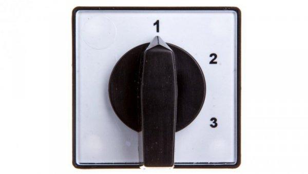 Łącznik krzywkowy 1-2-3 1P 10A do wbudowania IP55 4G10-82-U S1