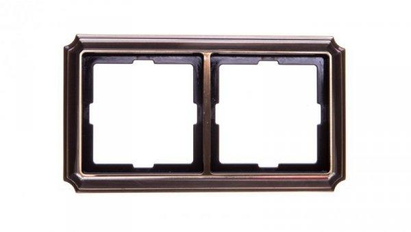 Merten Antique Ramka podwójna mosiądz antyk MTN483243
