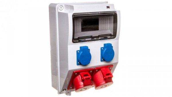 Rozdzielnica budowlana 9 modułów 5P/32A 5P/16A 2x2P+Z RS-9 6223-00