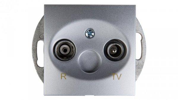 Simon 54 Gniazdo antenowe RD/TV końcowe srebrny mat DAZ.01/43