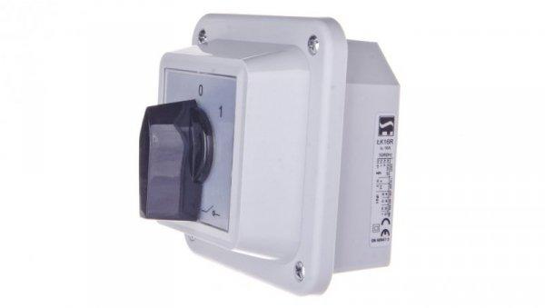 Łącznik krzywkowy 0-1 16A 1P w obudowie 0 ŁK16R-1.825OB1