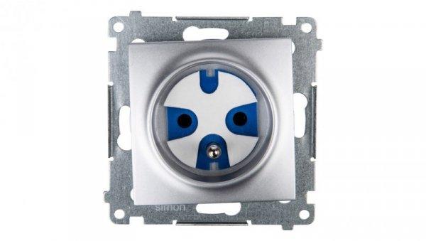 Simon 54 Gniazdo pojedyncze DATA z/u IP20 z kluczem uprawniającym srebrny mat DGD1.01/43
