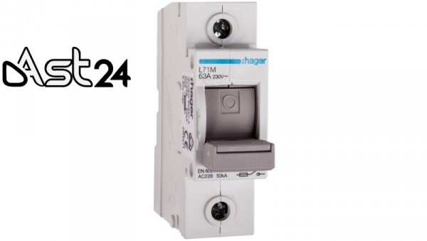 Rozłącznik bezpiecznikowy 1P 63A D02 L71M