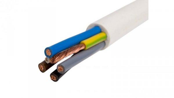 Przewód warsztatowy H05VV-F (OWY) 5x2,5 żo biały 300/500V /100m/