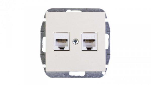 Sentia Gniazdo komputerowe podwójne RJ45 kat.5e kremowe 1449-11