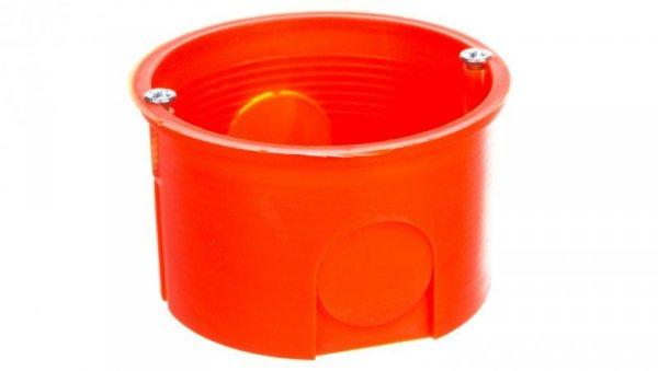Puszka podtynkowa 60mm z wkrętami czerwona PK-60 PRO 0281-01 /100szt/