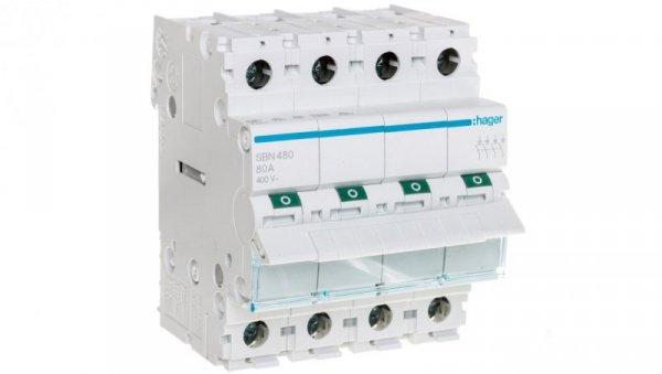 Rozłącznik modułowy 4P 80A SBN480
