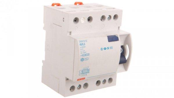 Wyłącznik różnicowoprądowy 4P 40A 0,3A typ AC SD GW94709 ELIT01020