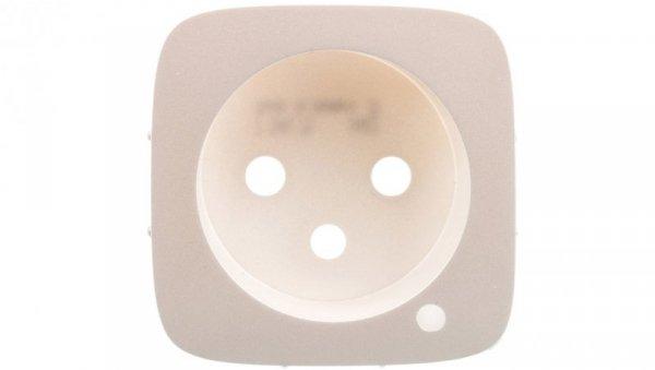 VALENA ALLURE Plakietka gniazda 2p+z z podświetleniem perłowy 754879