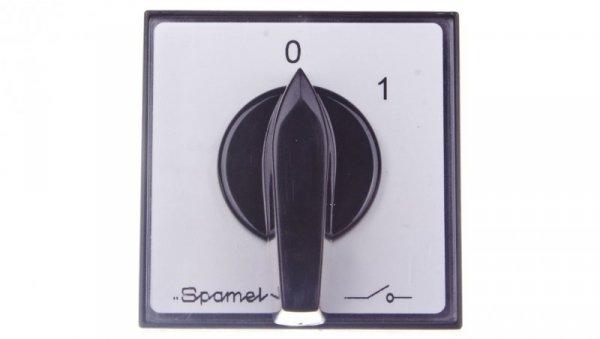 Łącznik krzywkowy 0-1 2P 16A do wbudowania ŁK15-1.828P03