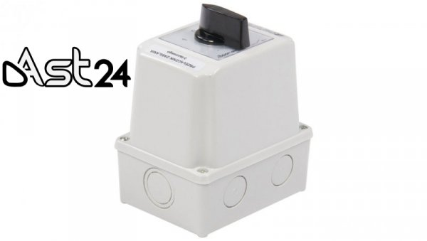 Łącznik krzywkowy 1-0-2 3P 25A w obudowie ŁK25R-3.8380OB3