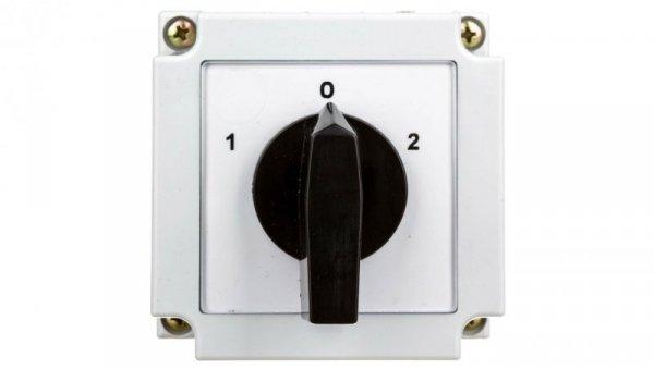 Łącznik krzywkowy 1-0-2 1P 10A w obudowie 4G10-51-PK 63-840340-011