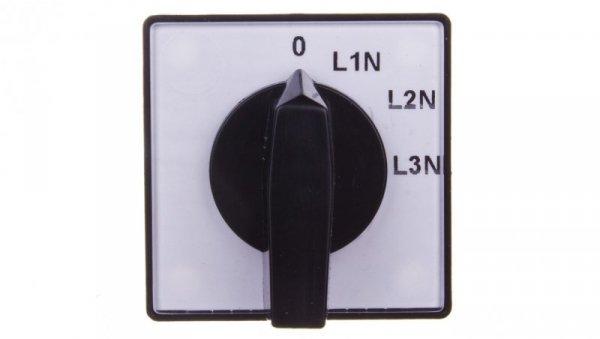 Przełącznik woltomierza 4P 10A do wbudowania 4G10-68-U S1