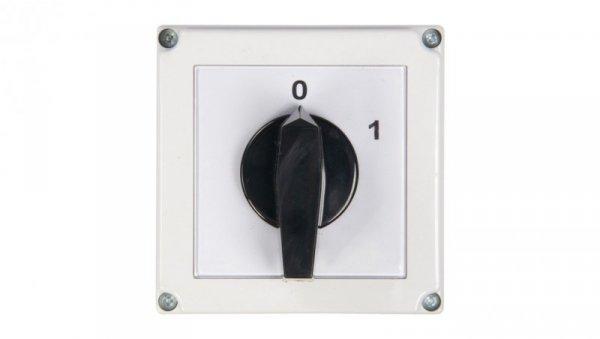 Łącznik krzywkowy 0-1 3P 63A w obudowie 4G63-10-PK 63-840306-051