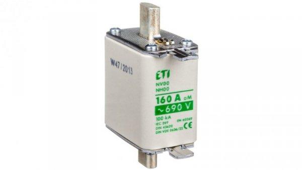 Wkładka bezpiecznikowa NH00 160A aM 690V WT-00 004111736