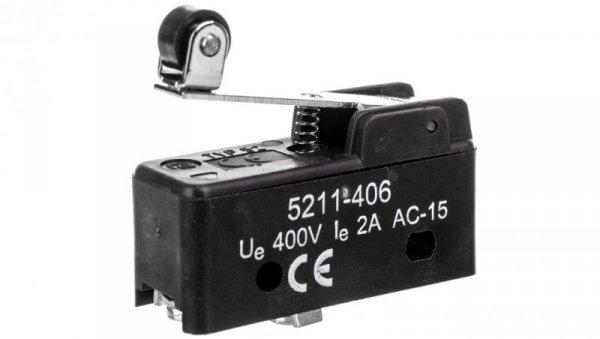 Wyłącznik krańcowy miniaturowy 1CO z rolką wzdłuż dźwigni W0-5211-406