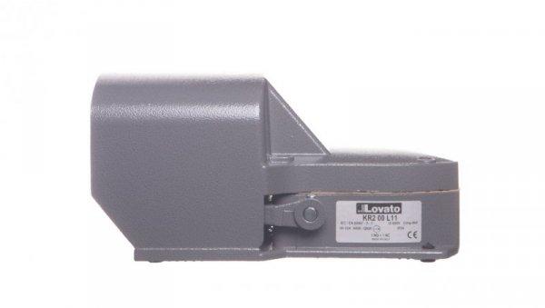 Wyłącznik nożny pojedynczy z osłoną szarą metal 1Z 1R 1 krok KR200L11