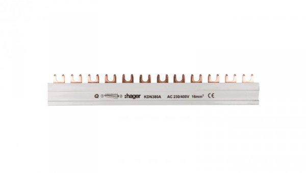 Szyna łączeniowa 3P 80A 16mm2 widełkowa (12 mod.) KDN380A