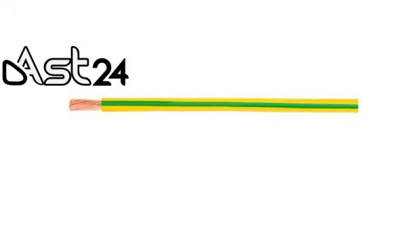 Przewód instalacyjny H05V-K (LgY) 0,5 żółto-zielony /100m/