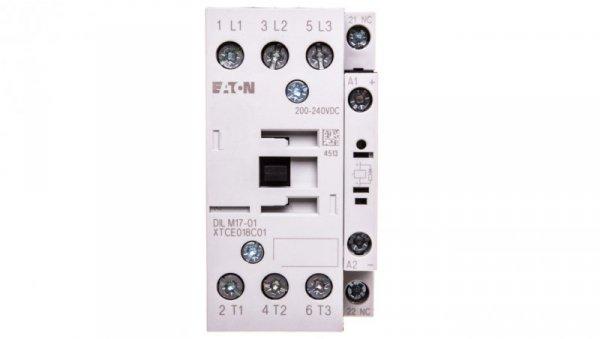 Stycznik mocy 17A 3P 200-240V DC 0Z 1R DILM17-01(RDC240) 277053