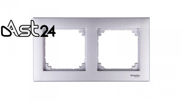 Merten M-Plan Ramka podwójna aluminium MTN486260