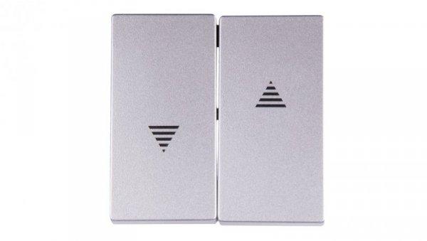 Merten System M Klawisz podwójny łącznika żaluzjowego z z symbolem /strzałka/ aluminium MTN435560