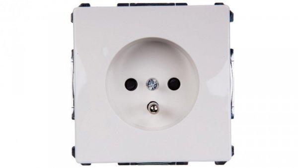 Merten System D Gniazdo pojedyncze z/u 16A IP20 biały MTN2600-4019