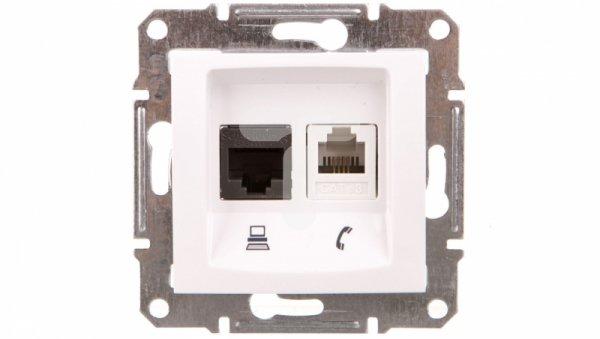 Sedna Gniazdo białe RJ11/RJ45 6 SDN5200121