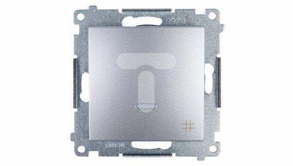 Simon 54 Łącznik krzyżowy z podświetleniem srebrny mat IP20 DW7L.01/43