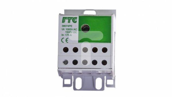 Blok rozdzielczy 1-potencjalowy 10x2.5-16 zielony AUX38074PE 82122005