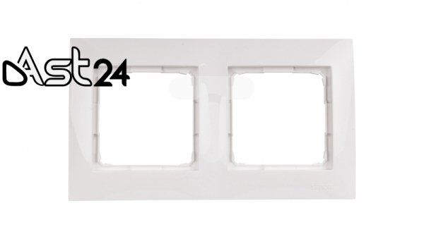 Simon 54 Premium Ramka podwójna biała /do karton-gips/ DRK2/11