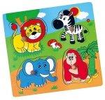 Puzzle niespodzianka - zoo Viga