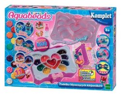 Pudełko błyszczących klejnocików Aquabeads