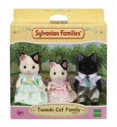 Sylvanian Families Rodzina kotków z czarnym uszkiem (Tata, Mama, Dziecko)