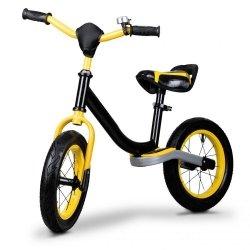 Rowerek biegowy rower pompowane koła czarny Ecotoys