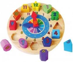 Edukacyjny zegar - sorter kształtów Viga