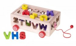 Zabawka edukacyjna sorter dopasuj kształty litery