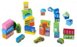 Klocki drewniane dla dzieci miasto1 100el