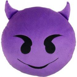 Poduszka Dekoracyjna  Emotki Emoji - diabeł fiolet