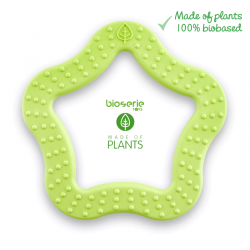 Gryzak sensoryczny Bioserie Teether Star Lime