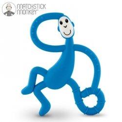 Terapeutyczny Gryzak Masujący ze Szczoteczką Matchstick Monkey Dancing Blue