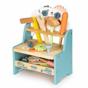 Drewniany warsztat dla dzieci stół narzędzia Ecotoys